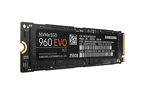 Samsung 960 EVO Series - 250GB PCIe NVMe - M.2 Internal SSD (MZ-V6E250BW) by Samsung