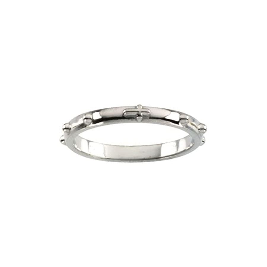 Rosary Ring in Sterling Silver Size 7
