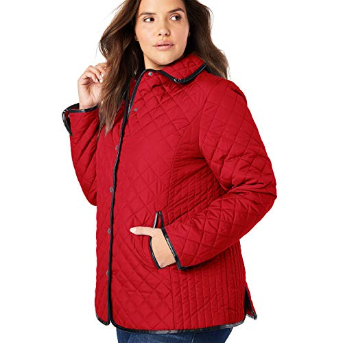 Best quilted jacket women plus size red list