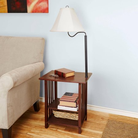 Genial Better Homes And Gardens 3 Rack End Table Floor Lamp, Espresso Finish