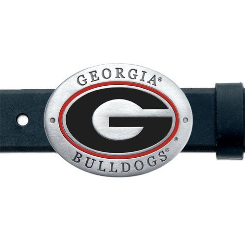 Heritage Pewter Georgia Bulldogs Belt Buckle