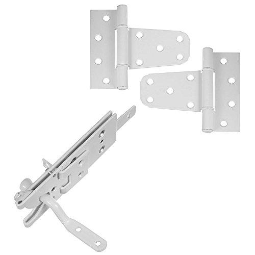 National Hardware N343-442 DPV876 Vinyl Fence Gate Kit in White Powder Coat