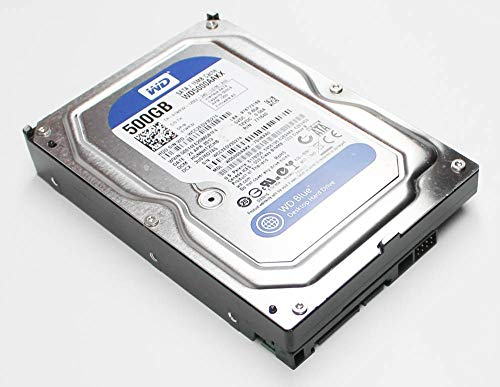 (Western Digital 500GB SATA 3.5 Hard Drive - WD5000AAKX-60U6AA0 (Renewed))