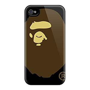 Scratch Resistant Hard Phone Cases For Iphone 4/4s With Allow Personal Design Nice Bape Skin LavernaCooney