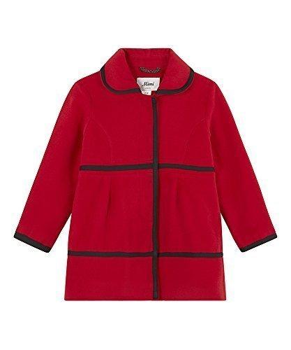 Rouge 11-12 Ans Mimi London - Filles LAINE HIVER touché tressé détail bord élégant hommeteau