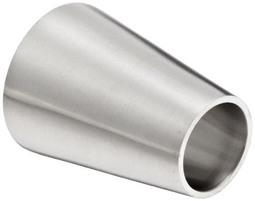Dixon B31W-G150100P Stainless Steel 304 Polished Fitting, Weld Concentric Reducer, 1-1/2