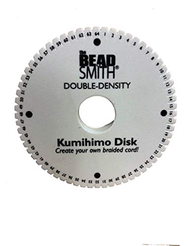 64 Slot Kumihimo Disk for using up to 40 strings! Extra Thick Foam for fine Threads, Wire & Beaded Kumihimo