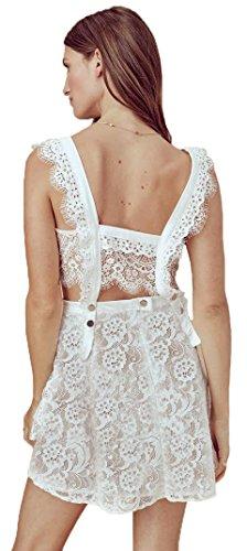 For Love & Lemons Women's Tati Pinafore Lace Dress, White, S by For Love & Lemons (Image #2)