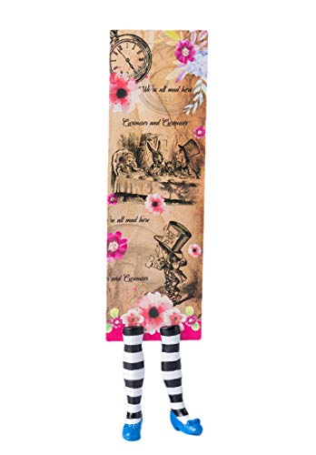 (Alice in Wonderland Bookmark - Amazing Illustration and Moulded Alice feet - Book Lovers Gift)