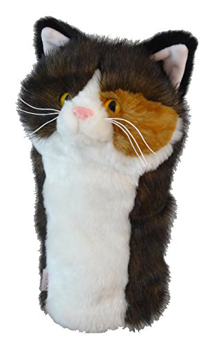 Daphne's Headcovers Torti Cat Golf Club Head Cover For 460cc Driver - Cat Golf Headcover