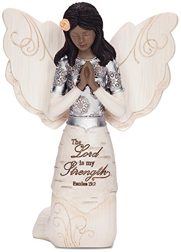 Elements 82324 Prayer Collectible Figurine, Ebony Kneeling and Praying Angel, 5-1/2-Inch