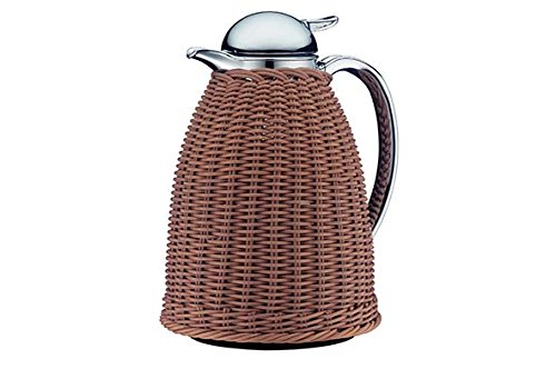 Alfi Albergo Beige Wicker Work Thermal Carafe, 8-Cup (Carafe Wicker Coffee)