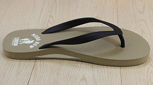 Sfnld Heren Klassieke Comfortabele String Zomer Strand Platte Sandalen Flip-flops Kaki