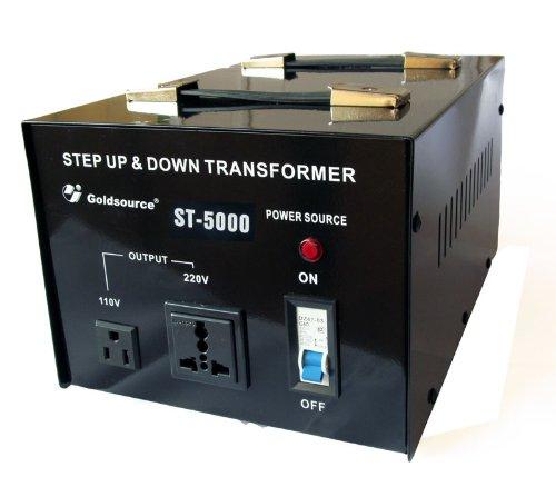 Importado negro Goldsource ST-5000 Transformador de 5000 W