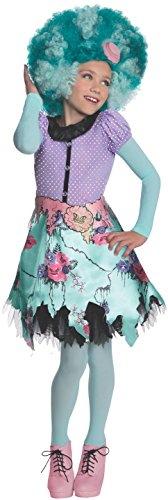 Honey Swamp Girls Costumes Wig (Rubies Monster High Frights Camera Action Honey Swamp Costume, Child Large)