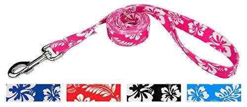 Country Brook Design 5/8 Inch Pink Hawaiian Dog Leash - 6 Foot