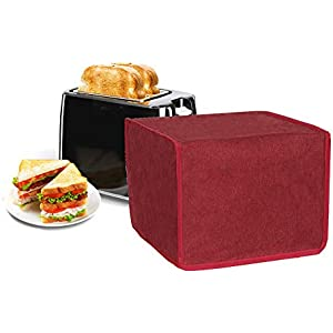 4 Slice Toaster Appliance Dust-proof Cover, Kitchen Small Appliance Cover, Toaster Dust-proof Cover, Waterproof Durable Bread Machine Cover (brown)