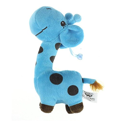 Leegor 28cm Giraffe Dear Soft Plush Toy Animal Dolls Kids Birthday Party Gift Ornaments Window Hangings Baby Developmental Toy Present (Blue)