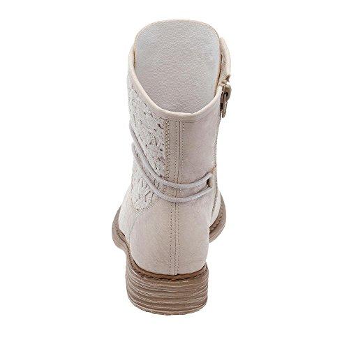 Rieker Z2118-81 - Botas para mujer Beige