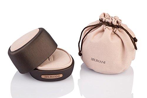 Brumani Boucles d'Oreilles Or Rose 18carats (750/1000) Ovale Grenat Rouge Femme