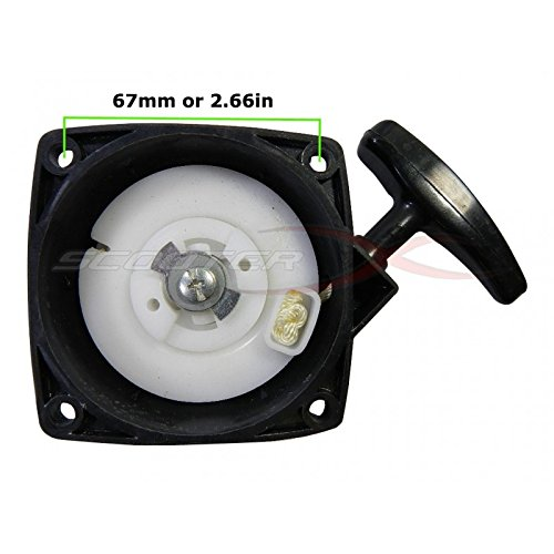 Start Scooter Gas Electric - Universal Chinese Gas Scooter Pull Starter Assembly Style #2 - Fits Gas Scooters, Mini Bikes, Pocket Bikes, and More! [4704]