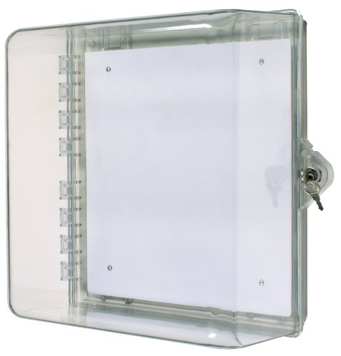 Price comparison product image Safety Technology International,  Inc. STI-7530 Protective Cabinet,  Clear Multipurpose Polycarbonate Enclosure with Backplate and Key Lock