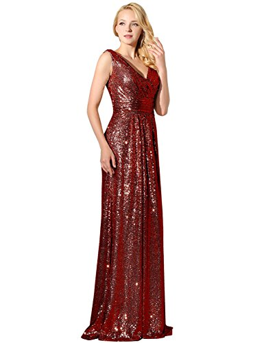 Sarahbridal Long Evening Dresses for Women UK Sequins Prom Dress Wedding  Ball Party Dresses Ladies Bridesmaid Gowns SSD351 - Buy Online in Oman. 4a4ebc79b