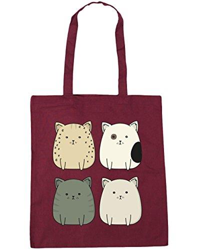 Squad litres HippoWarehouse 42cm Beach Tote Bag x38cm cat Shopping 10 Kitty Gym Burgundy qwnawCRE