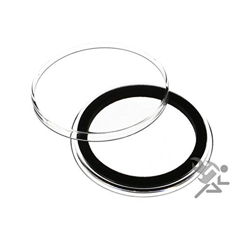 Air-Tite Coin Capsule Holders 39mm Black Ring Type for 1oz Silver Round / 1oz Copper Round Bullion Qty 250