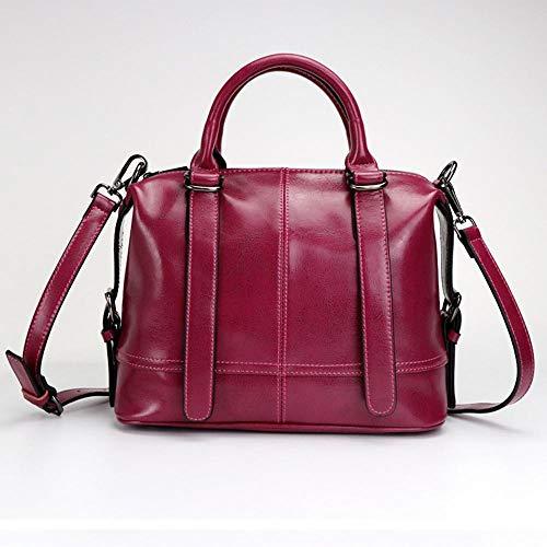 Cross Fashion Shoulder Single Bag A Wax Leather Hongge Oil Woman Handbag Lady Diagonal Pack BqtxP