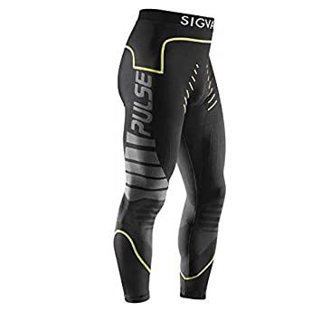 2fadf6b740f07 Sigvaris Pulse Elixir Men's Compression Leggings, Black and Yellow, Size  XL: Amazon.co.uk: Health & Personal Care
