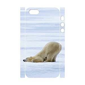 HXYHTY Cell phone Protection Cover 3D Case Polar Bear For Iphone 5,5S