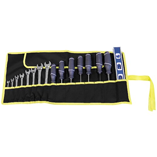 Evelots Set Of 2 -16 Pocket Canvas Wrench Tool Roll Bags by Evelots