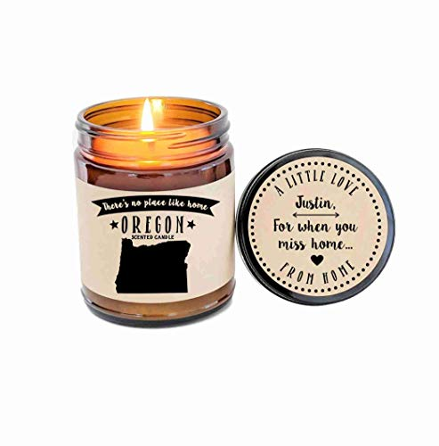Oregon Scented Candle State Candle Homesick Gift No Place Like Home Thinking of You Holiday Gift