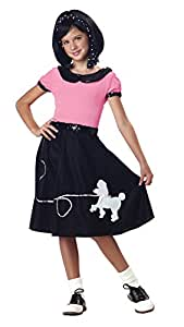California Costumes 50's Hop with Poodle Skirt Child Costume, Large