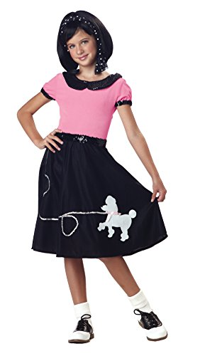 Greaser Costume Shoes (California Costumes 50's Hop with Poodle Skirt Child Costume, Medium)