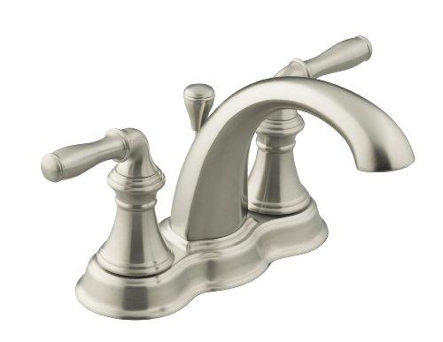 KOHLER K-393-N4-BN Devonshire Centerset Lavatory Faucet, Vibrant Brushed Nickel by Kohler