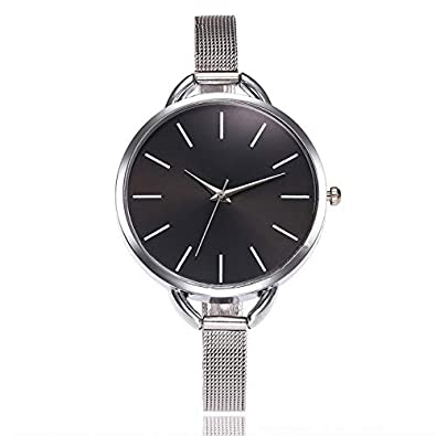 Amazon.com: Reloj Hombre Watch Women Watches Mesh Stainless Steel Fashion Discount Female Clock Rhinestone Crystal Relogio Relojes Black: Jewelry