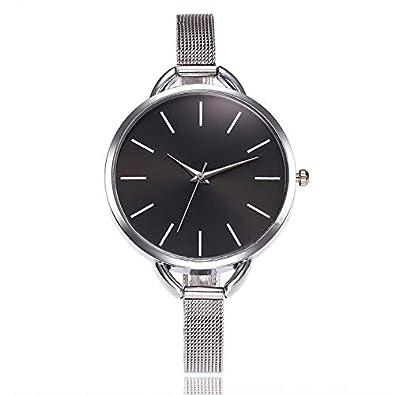 Amazon.com: Reloj Hombre Watch Women Watches Mesh Stainless Steel Fashion Discount Female Clock Rhinestone Crystal Relogio Relojes Black: Jewelry