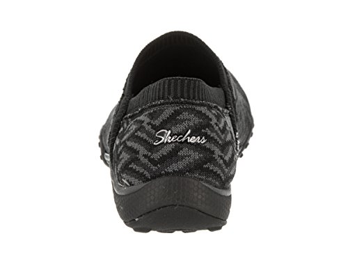 Skechers Easy Black Grey Gray Memory Breathe Lassie Black Foam Flat Shoes RR57wx