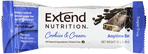Extend Bar, Cookies & Cream, 1.48 oz. Bars (Pack of 15) -