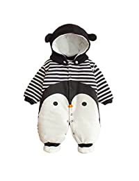 Baby Girls Boys Romper Newborn Thicken Snowsuit Fall/Winter Infant Jumpsuits Outfit Vine 3 Months
