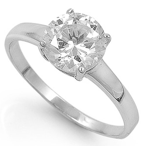 Oxford Diamond Co 2.00Ct Round White Cubic Zirconia Ring Size 10