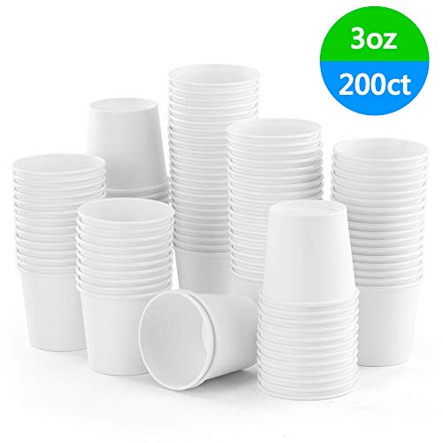Paper Sample - Eupako 3 oz white paper cups Small Disposable Sample Cups 200 Count