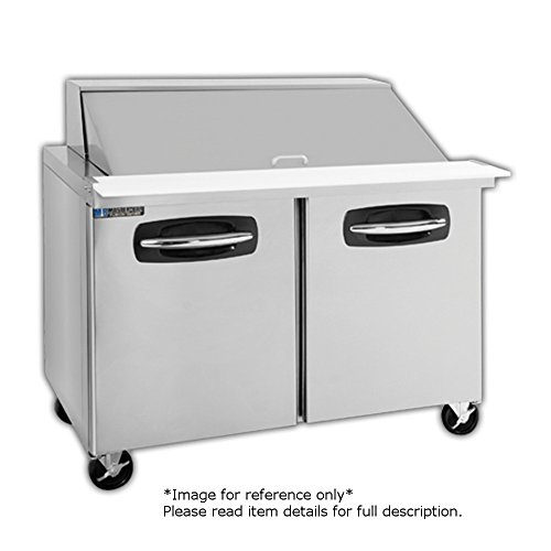 Master-Bilt MBSMP48-18A-002 Fusion Two Section Mega Top Sandwich Salad Prep Table 48
