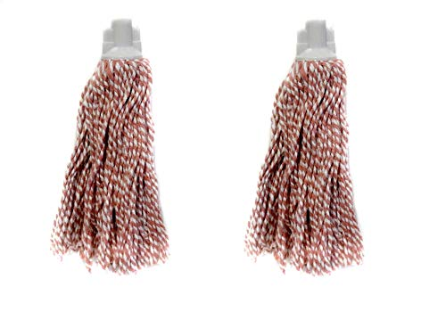 - 2 Pack 100% Cotton Yarn Yacht Mop Head Refill #8 Screw On Type