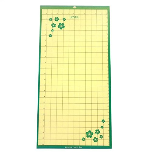 "UESTA Vinyl Plotter Die Replacement Self Adhesive Cutting Mat (24""x12"" Print Standard Grip"
