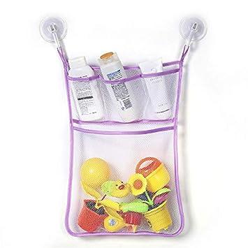 Baby Kid Bath Tub Toy Tidy Storage Suction Cup Bag Mesh Bathroom Net Organiser S