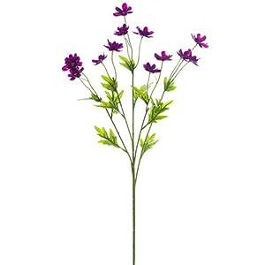 27″ Silk Mini Cosmos Flower Spray -Violet (Pack of 12)