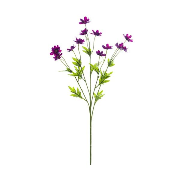 27″ Silk Mini Cosmos Flower Spray -Violet (Pack of 12)